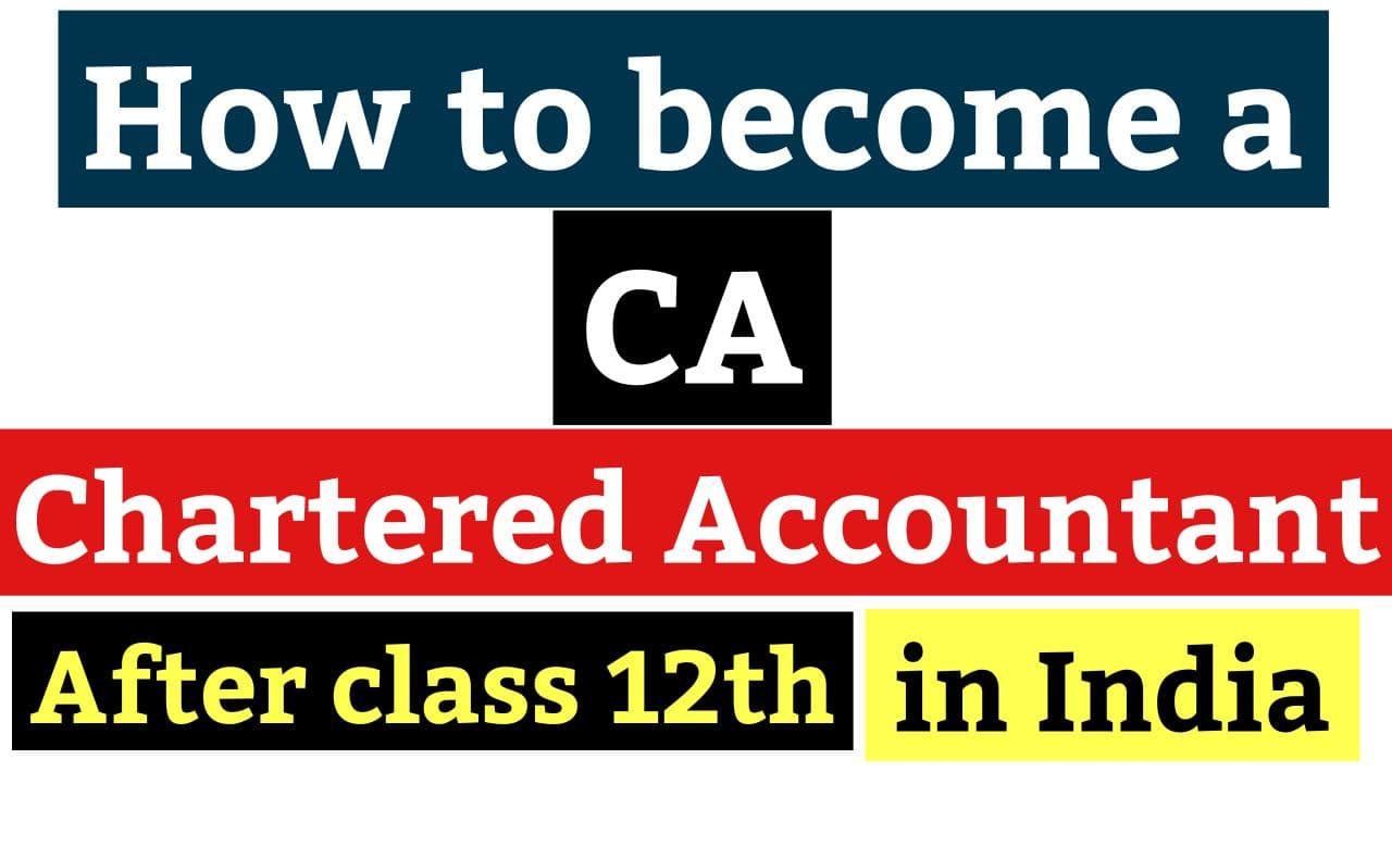 Become a Chartered Accountant after 12th